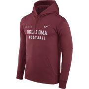 Nike Men's Oklahoma Sooners Crimson Football Sideline Therma-FIT Hoodie