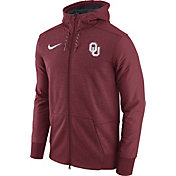 Nike Men's Oklahoma Sooners Heathered Crimson Football Travel Full-Zip Hoodie