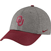 Nike Men's Oklahoma Sooners Grey/Crimson Heritage86 Heather Adjustable Hat