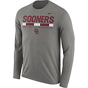 Nike Men's Oklahoma Sooners Grey Football Sideline Staff Legend Long Sleeve Shirt