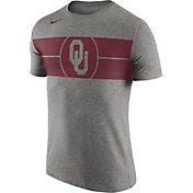 Nike Men's Oklahoma Sooners Grey Logo Basketball T-Shirt