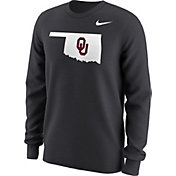 Nike Men's Oklahoma Sooners Anthracite Alt Logo Football Long Sleeve Shirt