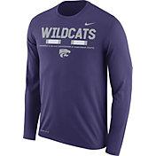 Nike Men's Kansas State Wildcats Purple Football Sideline Staff Legend Long Sleeve Shirt