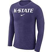 Nike Men's Kansas State Wildcats Purple Marled Dri-FIT Long Sleeve Shirt