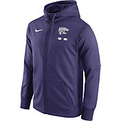 Nike Men's Kansas State Wildcats Purple Therma-FIT Full-Zip Football Hoodie