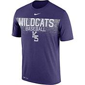 Nike Men's Kansas State Wildcats Purple Dri-Fit Team Issue Performance Baseball T-Shirt
