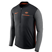 Nike Men's Oklahoma State Cowboys Coach Black Half-Zip Football Sideline Jacket