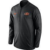 Nike Men's Oklahoma State Cowboys Lockdown Sideline Black Half-Zip Jacket
