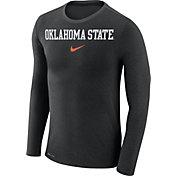Nike Men's Oklahoma State Cowboys Black Marled Dri-FIT Long Sleeve Shirt