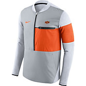 Nike Men's Oklahoma State Cowboys Grey/Orange Shield Hybrid Football Sideline Jacket