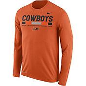 Nike Men's Oklahoma State Cowboys Orange Football Sideline Staff Legend Long Sleeve Shirt