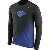 Nike Men's Kentucky Wildcats Black/Blue Football Sideline Dri-FIT Long Sleeve Shirt