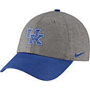 Nike Men's Kentucky Wildcats Grey/Blue Heritage86 Heather Adjustable Hat