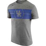Nike Men's Kentucky Wildcats Grey Logo Basketball T-Shirt