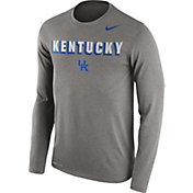 Nike Men's Kentucky Wildcats Grey Dri-FIT Franchise Long Sleeve T-Shirt