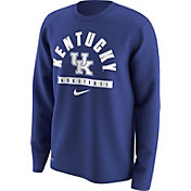 Nike Men's Kentucky Wildcats Blue Basketball Logo Long Sleeve Shirt