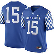 Nike Men's Kentucky Wildcats #15 Blue Game Football Jersey