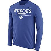 Nike Men's Kentucky Wildcats Blue Football Sideline Staff Legend Long Sleeve Shirt