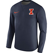 Nike Men's Illinois Fighting Illini Blue Modern Football Sideline Crew Long Sleeve Shirt