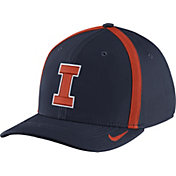 Nike Men's Illinois Fighting Illini Blue Aerobill Swoosh Flex Classic99 Football Sideline Hat