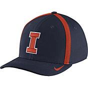 Nike Men's Illinois Fighting Illini Blue Aerobill Swoosh Flex Classic99 Football Sideline Hat