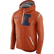 Nike Men's Illinois Fighting Illini Orange Fly Rush Football Jacket