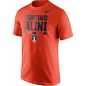 Nike Men's Illinois Fighting Illini Orange Local Verbiage T-Shirt