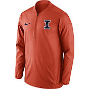 Nike Men's Illinois Fighting Illini Orange Lockdown Sideline Half-Zip Jacket