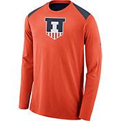 Nike Men's Illinois Fighting Illini Orange Elite Shooter Long Sleeve Shirt
