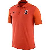 Nike Men's Illinois Fighting Illini Orange Team Issue Football Sideline Performance Polo