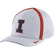 Nike Men's Illinois Fighting Illini White Aerobill Swoosh Flex Classic99 Football Sideline Hat