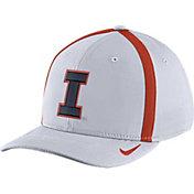 Nike Men's Illinois Fighting Illini White Aerobill Swoosh Flex Classic99 Football Sideline Hat