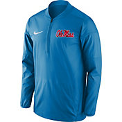 Nike Men's Ole Miss Rebels Blue Lockdown Sideline Half-Zip Jacket