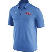 Nike Men's Ole Miss Rebels Light Blue Elite Football Sideline Polo