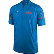 Nike Men's Ole Miss Rebels Powder Blue Football Sideline Hot Jacket