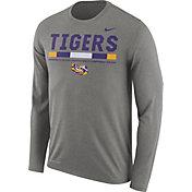Nike Men's LSU Tigers Grey Football Sideline Staff Legend Long Sleeve Shirt