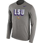 Nike Men's LSU Tigers Grey Dri-FIT Franchise Long Sleeve T-Shirt