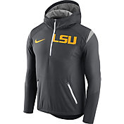 Nike Men's LSU Tigers Anthracite Fly Rush Football Jacket