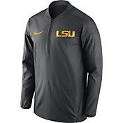 Nike Men's LSU Tigers Anthracite Lockdown Sideline Half-Zip Jacket
