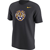 Nike Men's LSU Tigers Anthracite Alt Logo Football T-Shirt