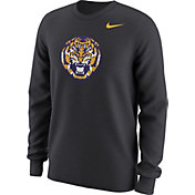 Nike Men's LSU Tigers Anthracite Alt Logo Football Long Sleeve Shirt
