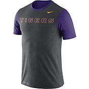 Nike Men's LSU Tigers Anthracite/Purple Championship Drive Dri-Blend T-Shirt