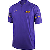 Nike Men's LSU Tigers Purple Football Sideline Hot Jacket