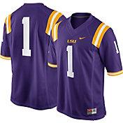Nike Men's LSU Tigers #1 Purple Game Football Jersey