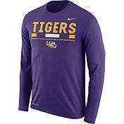 Nike Men's LSU Tigers Purple Football Sideline Staff Legend Long Sleeve Shirt