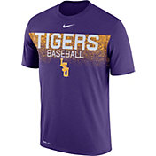 Nike Men's LSU Tigers Purple Dri-Fit Team Issue Performance Baseball T-Shirt