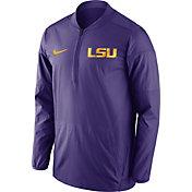 Nike Men's LSU Tigers Purple Lockdown Sideline Half-Zip Jacket