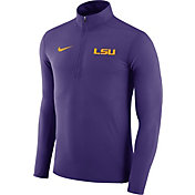 Nike Men's LSU Tigers Purple Element Performance Quarter-Zip