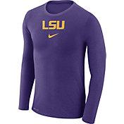 Nike Men's LSU Tigers Purple Marled Dri-FIT Long Sleeve Shirt
