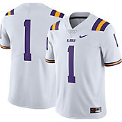 Nike Men's LSU Tigers #1 White Limited Football Jersey